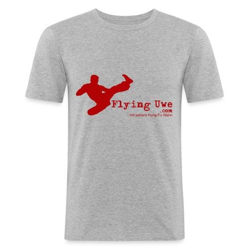 flyinguwe logo vektor kopie - Männer Slim Fit T-Shirt