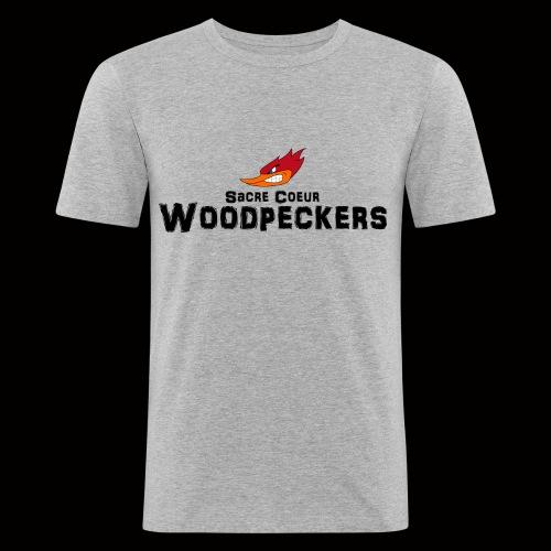 scwoodpeckerslogosmall - Männer Slim Fit T-Shirt