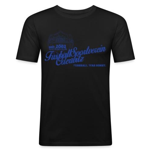 Shirt V2 Design blau Rev1 gif - Männer Slim Fit T-Shirt