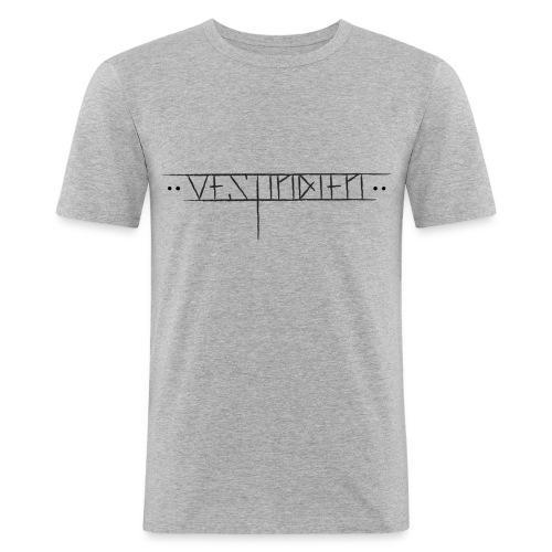 vestindienskriftny1 - Slim Fit T-skjorte for menn