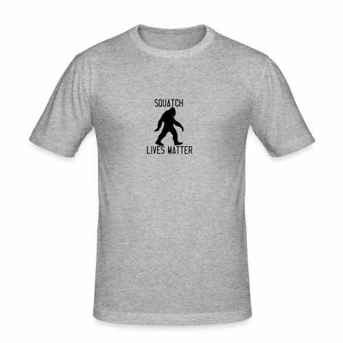Squatch Lives Matter - Men's Slim Fit T-Shirt