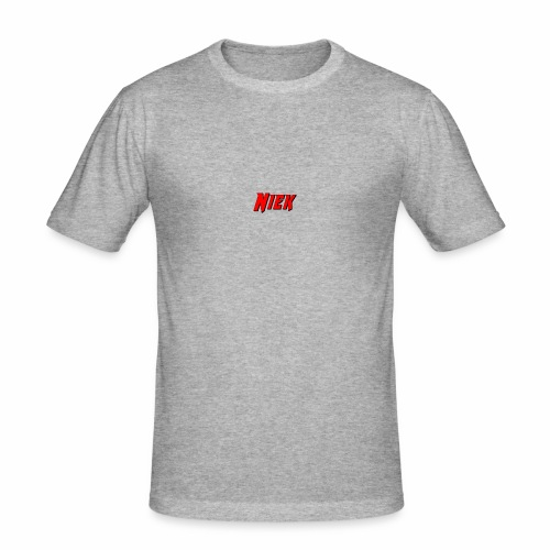 Niek Red - Mannen slim fit T-shirt