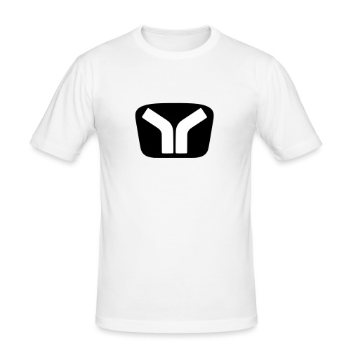 Yugo Logo Black-White Design - Men's Slim Fit T-Shirt