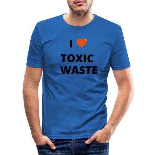 real genius i heart toxic waste - Men's Slim Fit T-Shirt