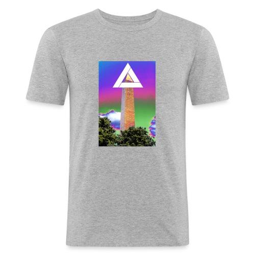 SIXTH DIEMENSION MONUMENT - Men's Slim Fit T-Shirt