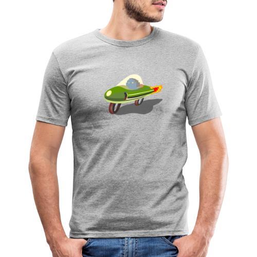 Futuristic Retro Bike - Men's Slim Fit T-Shirt