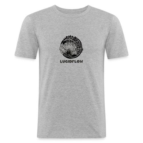 Lucidflow Black Transparent - Men's Slim Fit T-Shirt