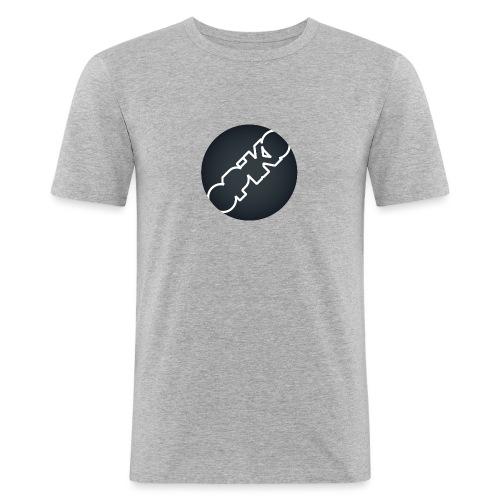 opiko Logo S/W - Männer Slim Fit T-Shirt