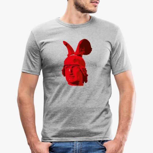 Kopf des Hermannsdenkmals - Männer Slim Fit T-Shirt