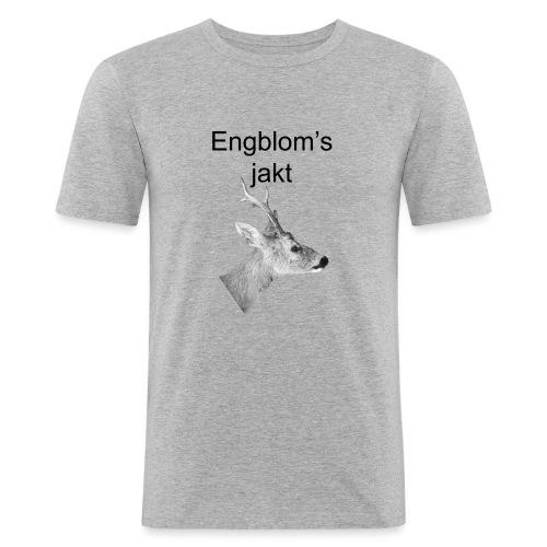 Officiell logo by Engbloms jakt - Slim Fit T-shirt herr