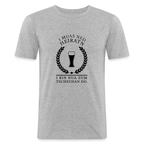 Polterer I muas ned Heiratn - Männer Slim Fit T-Shirt
