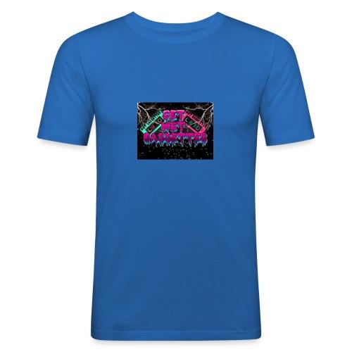 get wet cassettes - Miesten tyköistuva t-paita