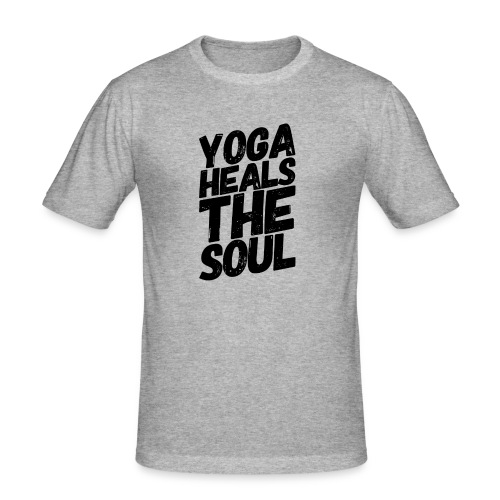 yoga heals the soul - slim fit T-shirt