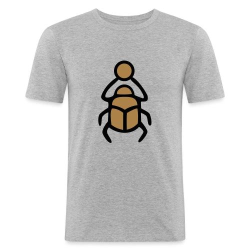 Skarabäus Ägyptisches Schutz Symbol Amulett - Männer Slim Fit T-Shirt