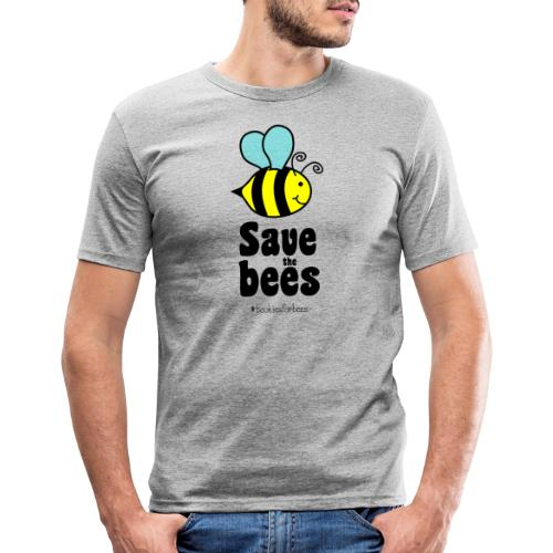 Bees9-1 save the bees | Bienen Blumen Schützen - Men's Slim Fit T-Shirt