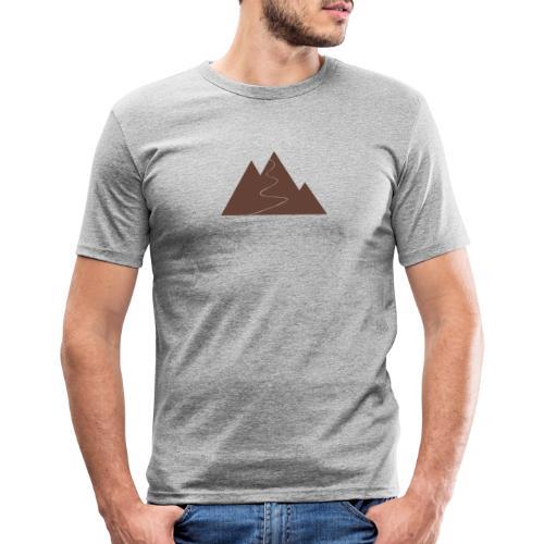 T-Shirt Berge - Männer Slim Fit T-Shirt