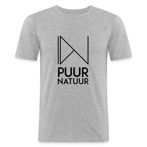 PUUR NATUUR FASHION BRAND - Mannen slim fit T-shirt