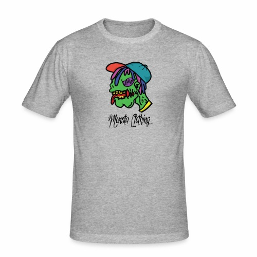 Monsta T-Shirt With Text - Men's Slim Fit T-Shirt