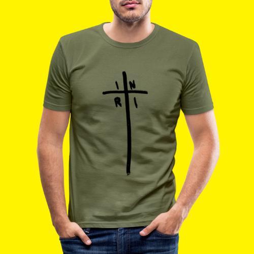 Cross - INRI (Jesus of Nazareth King of Jews) - Men's Slim Fit T-Shirt