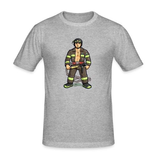 pompiere - Maglietta aderente da uomo