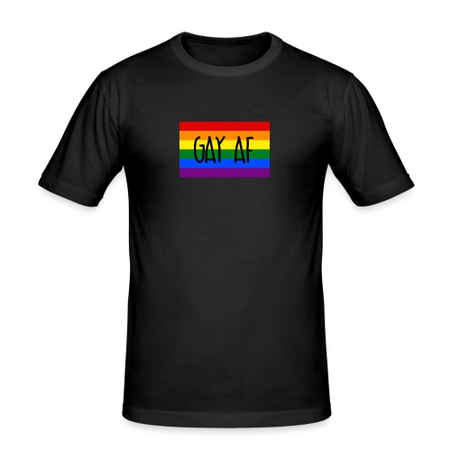 gay af - Männer Slim Fit T-Shirt