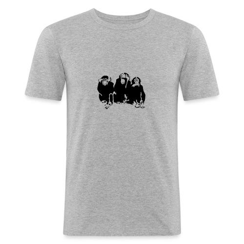 3 monkeys - T-shirt près du corps Homme