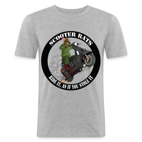 Scooter Rat - Men's Slim Fit T-Shirt