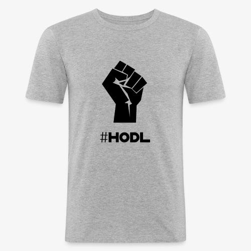 HODL-fist-b - Men's Slim Fit T-Shirt