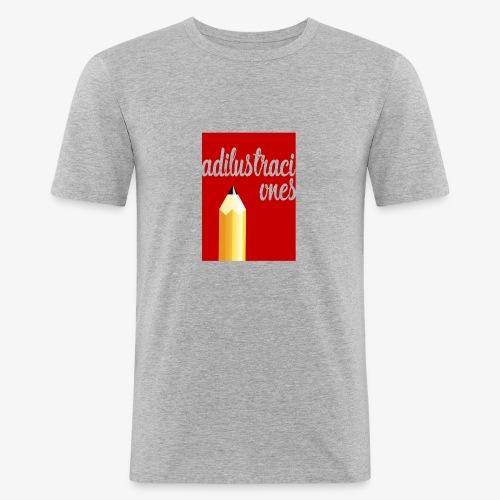 Ad ilustraciones Rojo - Camiseta ajustada hombre