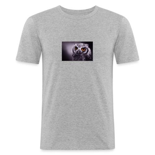 Pöllö - Miesten tyköistuva t-paita
