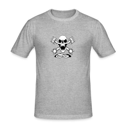Bergen Bike Life - Slim Fit T-skjorte for menn