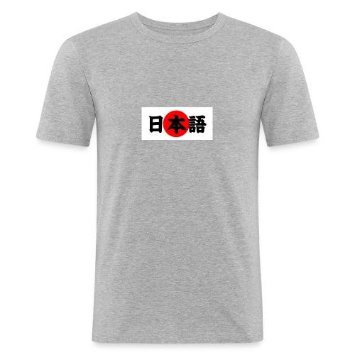 japanese - Miesten tyköistuva t-paita