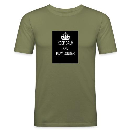 keep calm play loud - T-shirt près du corps Homme