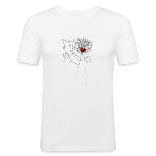 trappola_del_cuore - Maglietta aderente da uomo