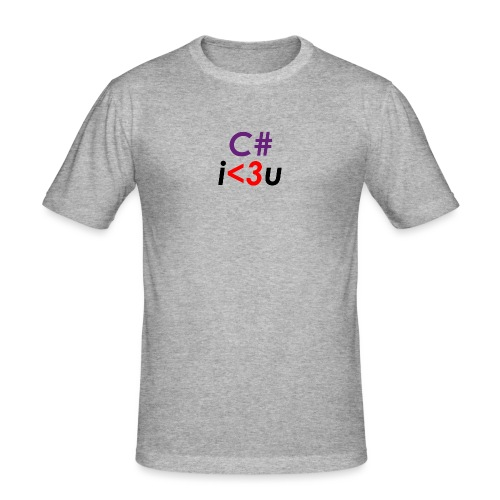 C# is love - Maglietta aderente da uomo