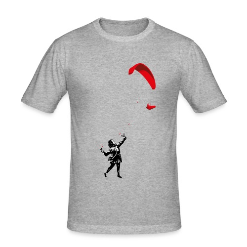 Mädchen mit Gleitschirm - Männer Slim Fit T-Shirt