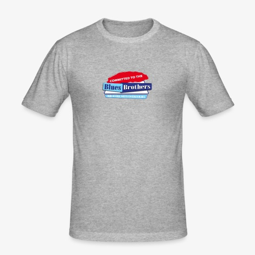 Official Committed to the Blues Logo - Men's Slim Fit T-Shirt