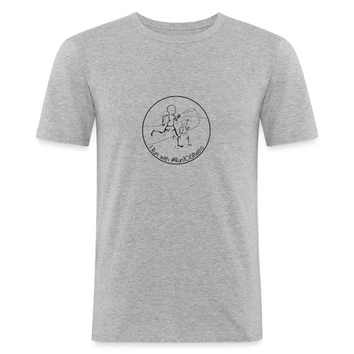 I Run #Run106Pietro Black - Maglietta aderente da uomo