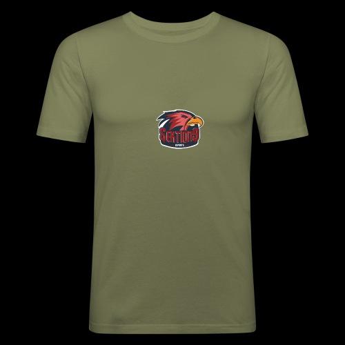 Sektion9 logo Rot - Männer Slim Fit T-Shirt