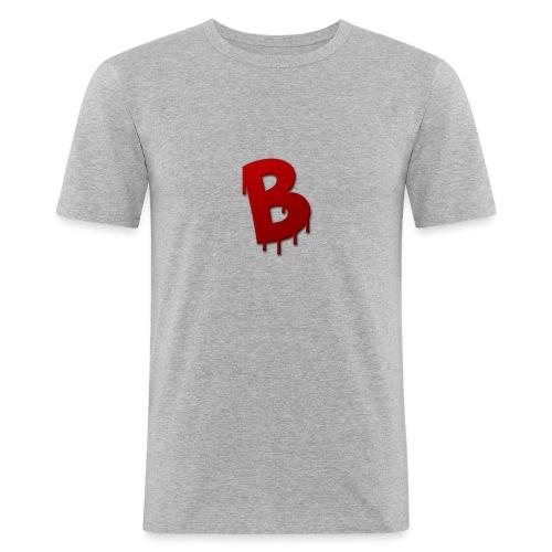 Rood Bartjuh - Mannen slim fit T-shirt