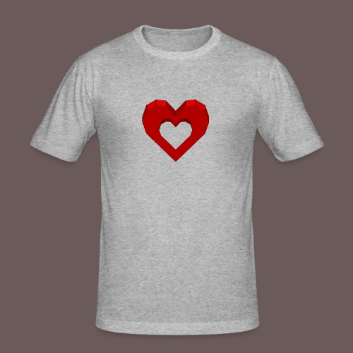Heart Illusion - Herre Slim Fit T-Shirt