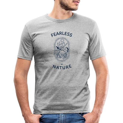 fearless by nature - Männer Slim Fit T-Shirt