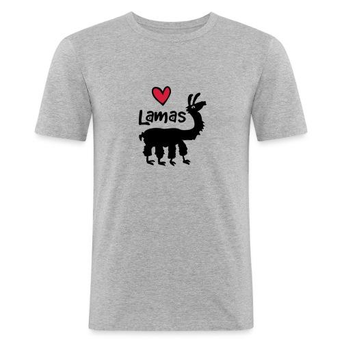 LSherzlama - Männer Slim Fit T-Shirt