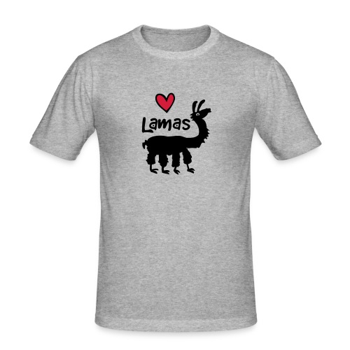 LSherzlama - Männer Slim Fit T-Shirt