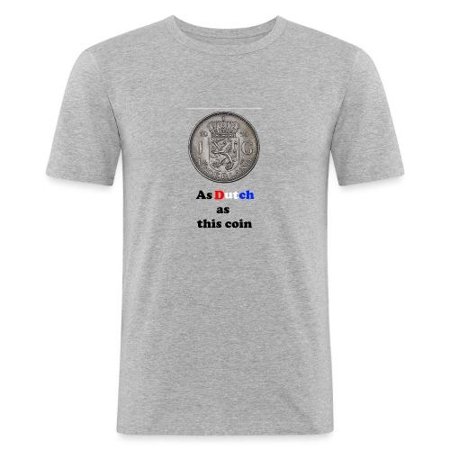 Hollandse Gulden - Mannen slim fit T-shirt