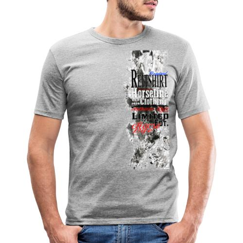 Limited Edition Reit Shirt Pferde Reiten - Männer Slim Fit T-Shirt