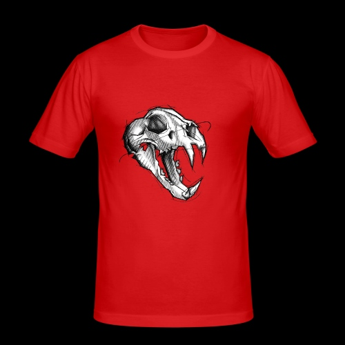 Teschio Tigre - Maglietta aderente da uomo