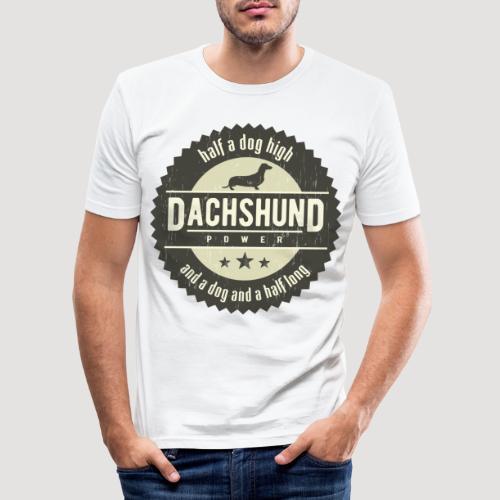 Dachshund Power - Mannen slim fit T-shirt