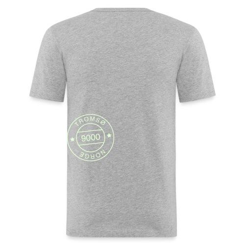 9000tlogostorre - Slim Fit T-skjorte for menn