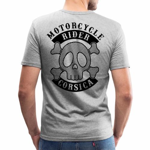 Motorcycle Rider Corsica - T-shirt près du corps Homme